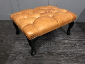 Crystal Bruciato Chesterfield Footstool