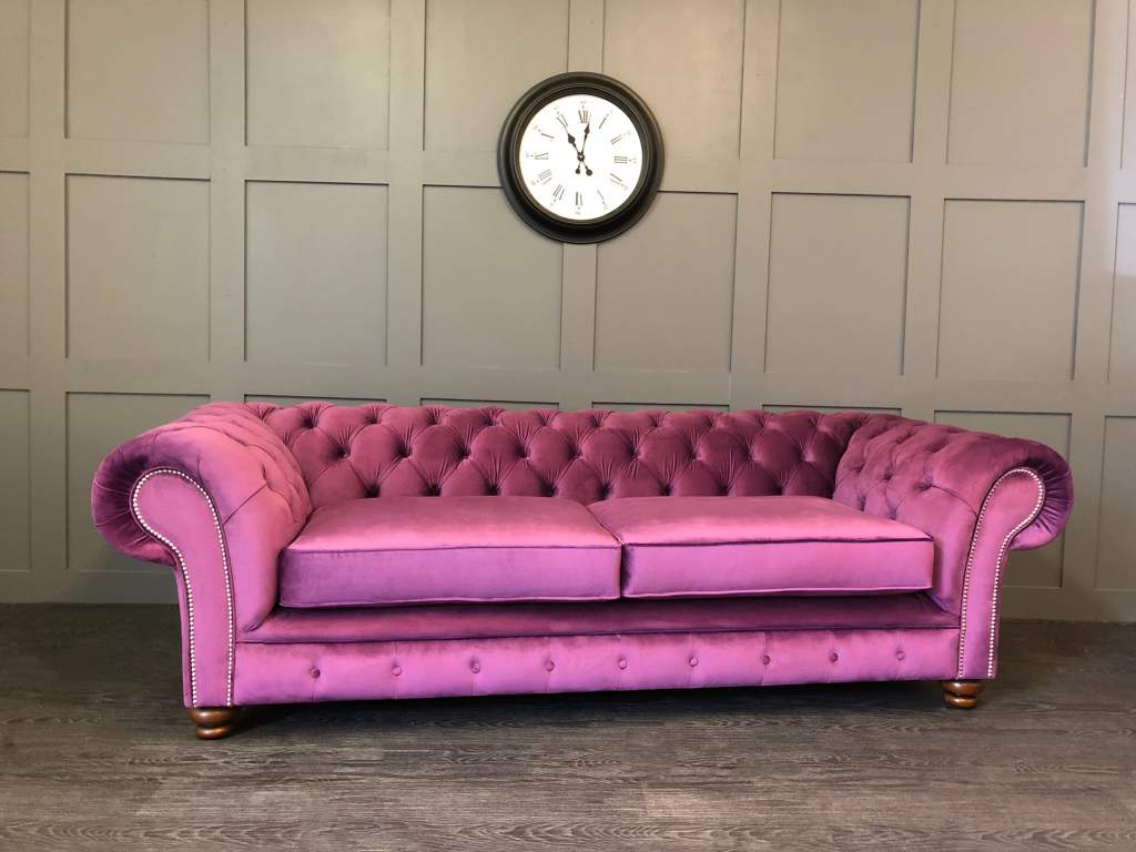 The Manchester chesterfield 3 seat sofa cambio amethyst